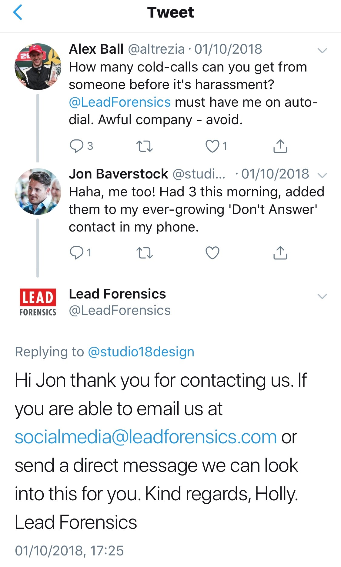 2018-10-01-Lead-Forensics-Complaint