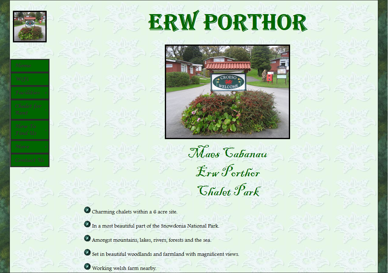 Old website example 1