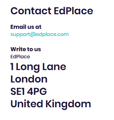 Different options on your website contact page