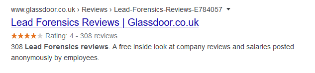 lead forensics reviews glassdoor